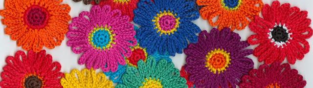 patroon van gehaakt bloemetje