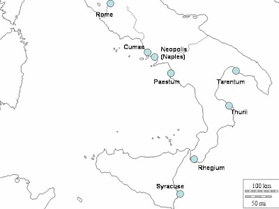 Tarentum Italy Map.Mike Anderson S Ancient History Blog The Greeks In Italy
