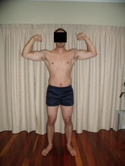 Adrian — Before Leangains — 196lbs (Front)