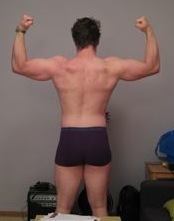 Mikael R — Before Leangains @ 203lbs (Back)