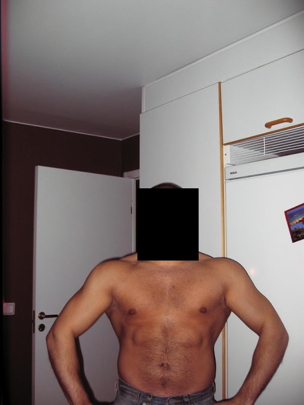 Andreas S — Before Leangains @ 185Lbs (Front)