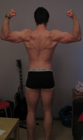 Mikael R — After Leangains @ 180lbs (Back)