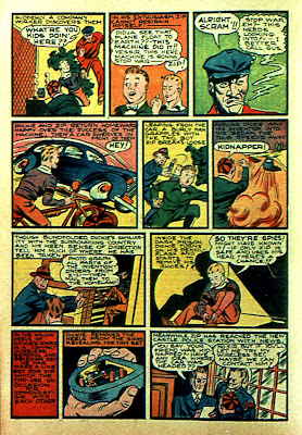 A 1940 radio set hidden in a shoe heel is shown in this old comic book page from Silver Streak Comics