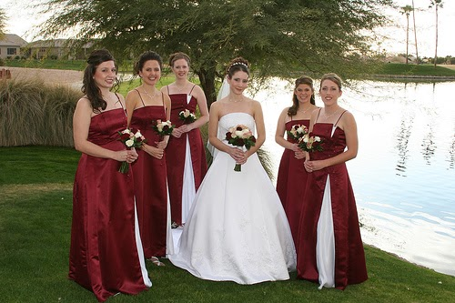 Wedding Planning: White & Maroon: Wedding Dresses For