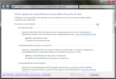 Compartilhamento Windows 7 e XP