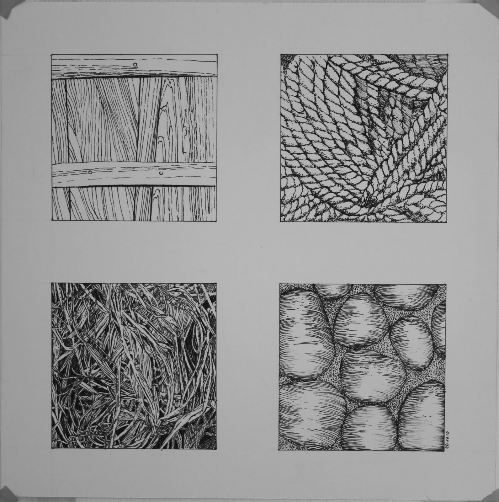 Afferemena Four Textures In Pen And Ink