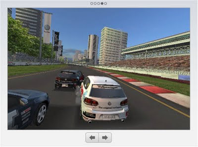 VW 2010 GTI Real Racing App grandstand view