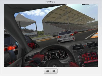 VW 2010 GTI Real Racing App in car view