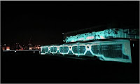 Tron Legacy architectural mapping projection London Southbank