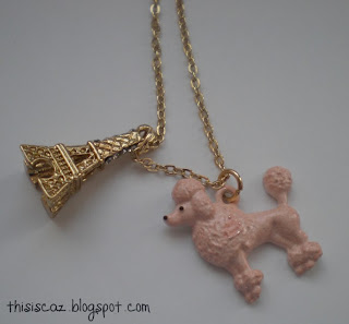 Primark Eiffel Tower necklace