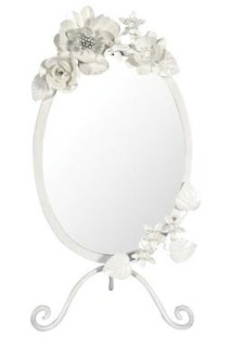 Vintage shabby chic standing mirror