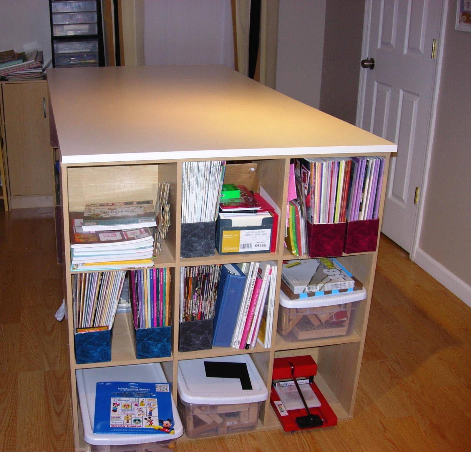 Updated Basement Craft Room