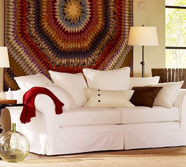 Pottery Barn S Charleston Sofa With Custom Cordovan Colored Slipcover
