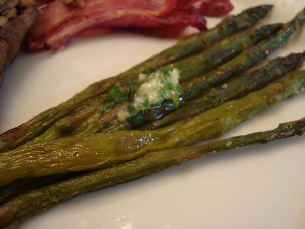 Roasted Asparagus w/Lemon Zest Butter