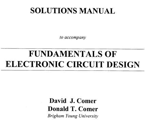 Electronic Circuit Design Fundamentals