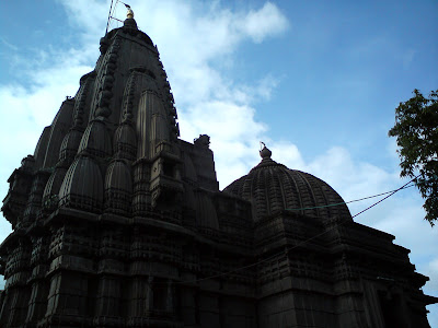 Magnificient Kalaram Temple made from black stones in Nashik