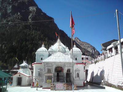 Magnificient Gangotri Temple made with white granite
