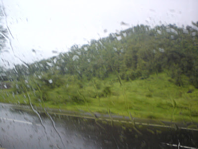 Mumbai- Nashik highway in the rain