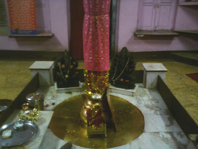 The Trident at the base in the Shakti Temple - Uttarkashi