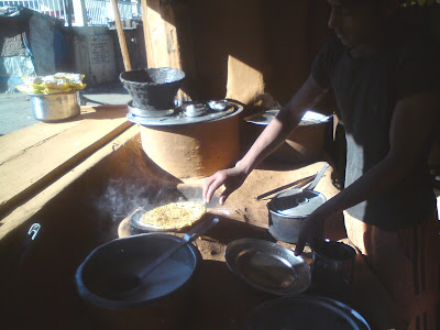 My Paratha getting ready in Chowrangikhal, en route to Badrinath from Uttarkashi