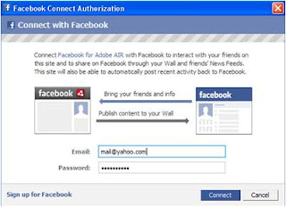 Facebook Client for Adobe Air