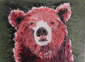 "Little bear, 5""x3"", oil on canvas"