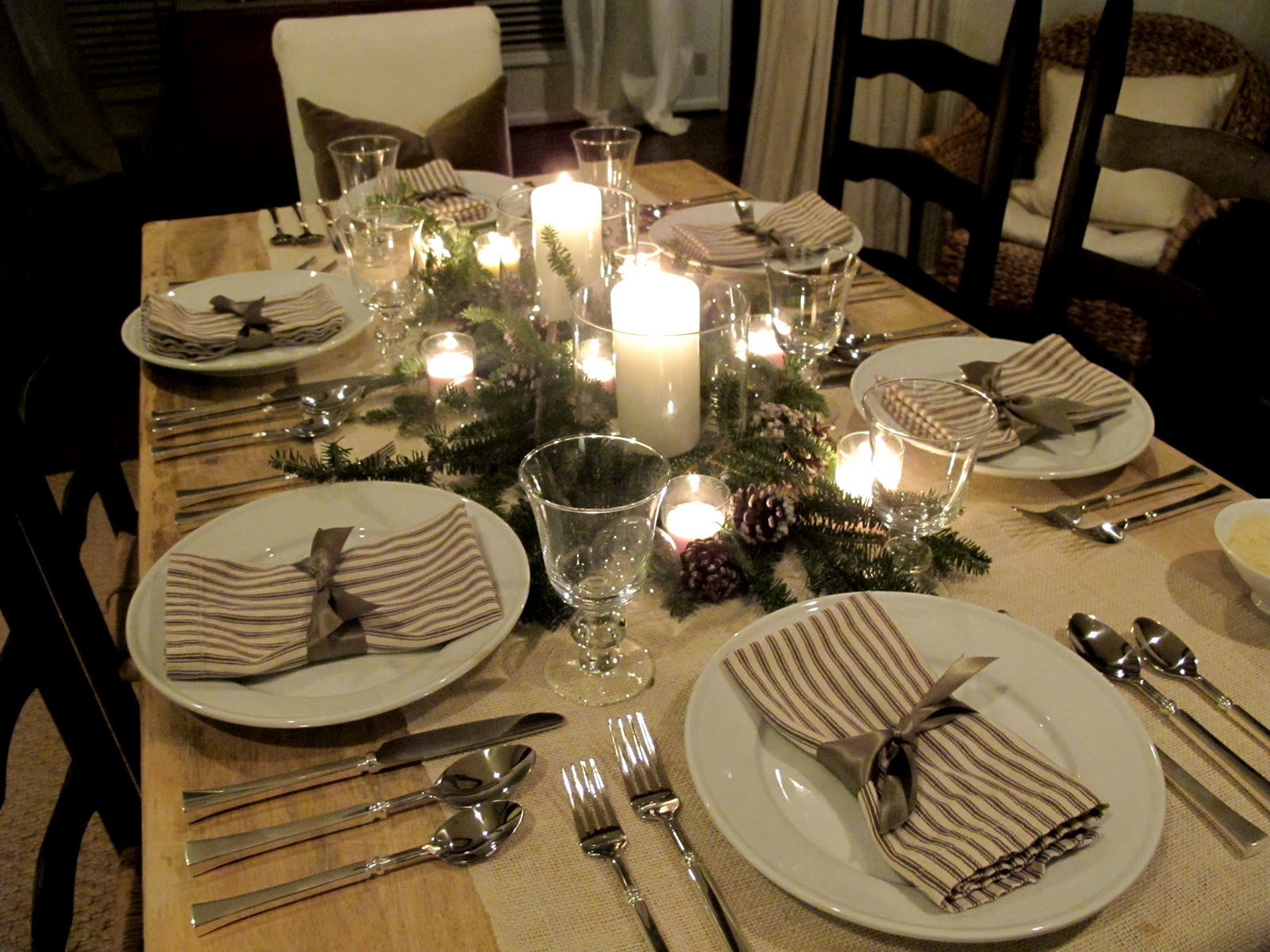 Jenny steffens hobick entertaining tuscan pasta party - Dining table setting ideas ...