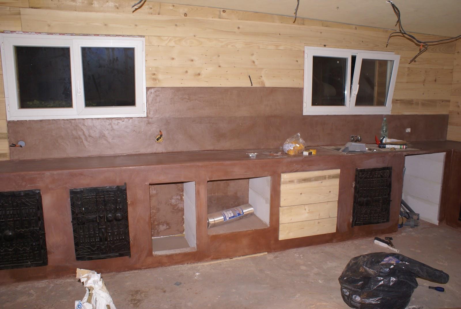 auto construction bois enduit du plan de travail. Black Bedroom Furniture Sets. Home Design Ideas