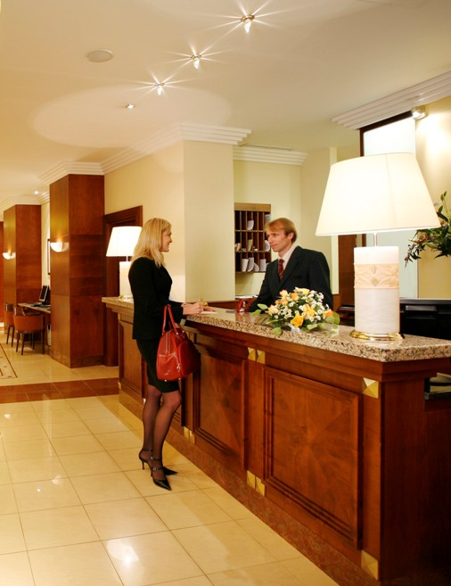 Our Renovated Hotel Lobby is a Real Show Stopper | Chubb ... |Hotel Front Office Lobby