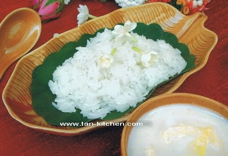 Durian in coconut milk and Sweet sticky rice: ข้าวเหนียว ...