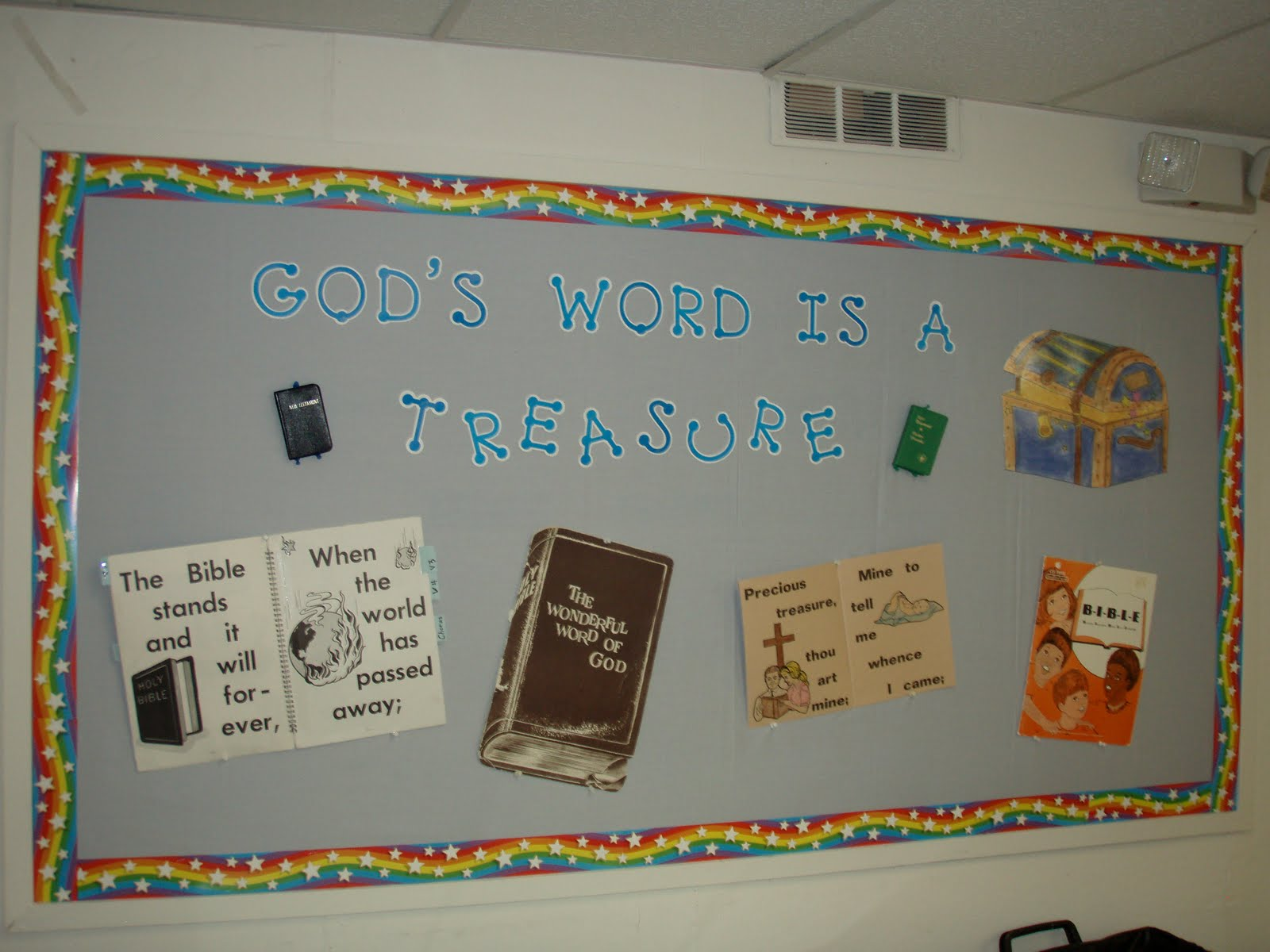 bulletin board template word - outside the box god 39 s word is a treasure