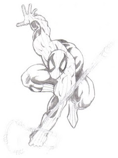 Spiderman comic book art drawing