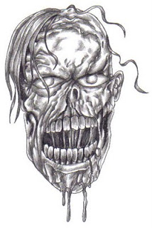 Zombie Face Drawing