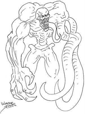 Wayne Tully Horror Art Daily Sketching Monster Creature Draft Ideas