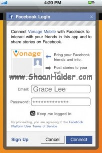 Call Free To FACEBOOK Friends With VONAGE