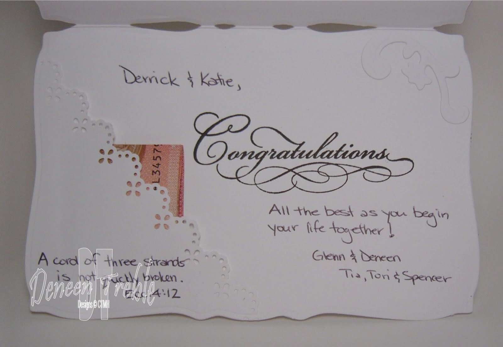 A Path Of Paper: Bridal Shower Card