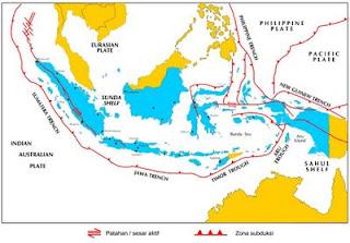 Di Indonesia Terlihat Di Sepanjang Pesisir Barat Sumatra Selatan Jawa Sampe Ke Laut Banda Lempeng Samudra Dan Benua Yang Dimaksud Adalah Lempeng Australia