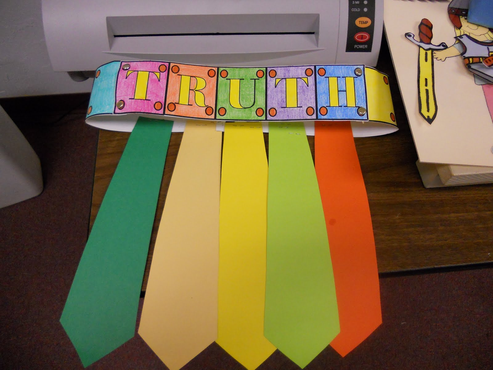 Belt Of Truth Craft For Kids