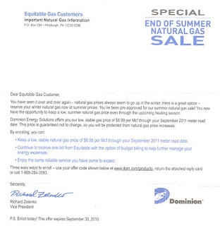 Natural Gas Letter Of Reliabilty