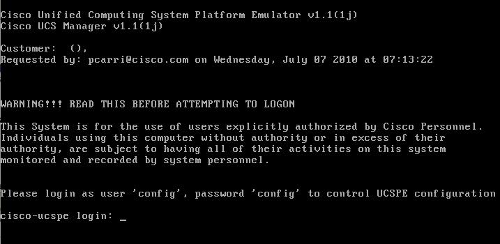 UCS Platform Emulator   Musings of Rodos