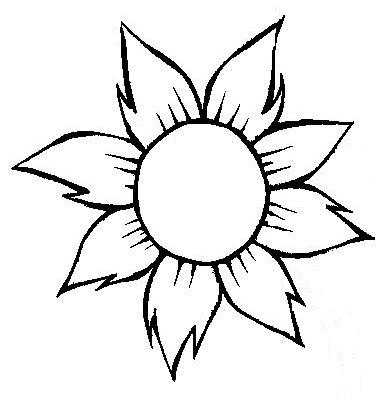 Risco De Flor Para Colorir Desenho De Flor Para Uso Geral