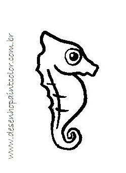 Desenho De Cavalo Marinho Para Imprimir E Colorir Desenhos