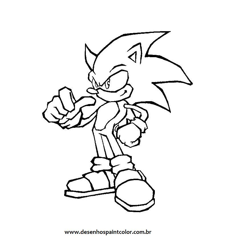 Desenho Do Sonic Para Colorir O Personagem Dos Games Para