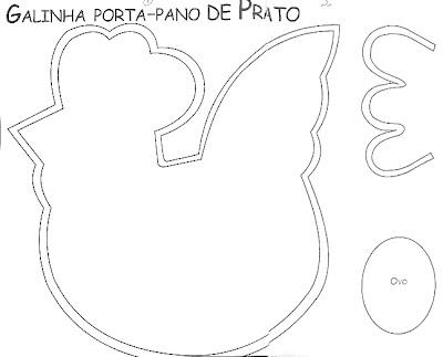 Atividades : Galinha em poá Porta Pano de Prato