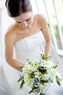 They Chose The Combination Of White Blue Brown For Their Bridal Colors Hydrangea Delphinium Hyperi Were Flowers Choice Day