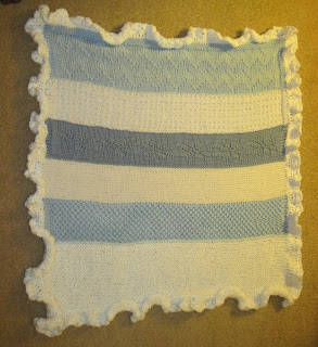 knitted preemie blanket