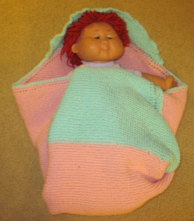 knitted corner to corner baby blanket