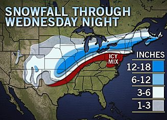 Snow Forecast Map MSE Creative Consulting Blog: Here it Comes! Snow Forecast Map