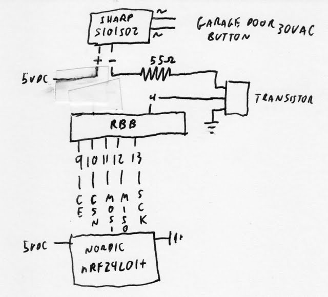 PamAndMatt: Arduino Wireless Garage Door Opener