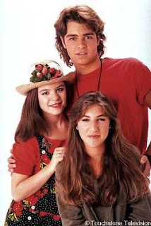 Blossom, Six, and Joey in happier (yet tackier) times